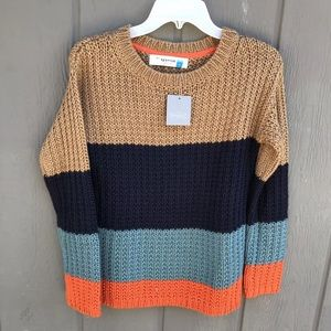 NWT Sparrow Anthropologie Colorblock Sweater Small